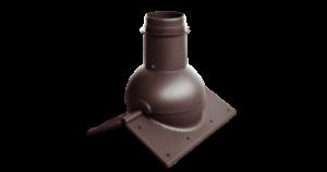 Коньковый элемент Krovent – Pipe-Cone для любого вида кровли
