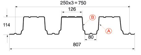 Профнастил H-114x750-A, B_1